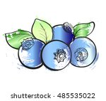 hand drawn watercolor grunge... | Shutterstock .eps vector #485535022