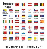 european country flags | Shutterstock .eps vector #48553597