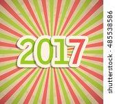 new year's retro background... | Shutterstock .eps vector #485538586