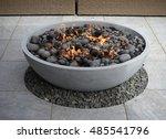 Modern Fire Pit On Backyard...