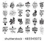 happy new year 2017 typographic ... | Shutterstock . vector #485545072