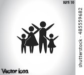 family vector icon | Shutterstock .eps vector #485559682