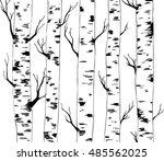 background of birches. hand...   Shutterstock .eps vector #485562025