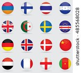 universal flags set to use for... | Shutterstock .eps vector #485568028