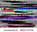 glitch background. computer... | Shutterstock .eps vector #485574796