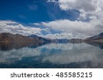 spectacular pangong lake with... | Shutterstock . vector #485585215