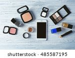 decorative cosmetics and... | Shutterstock . vector #485587195