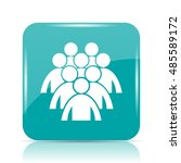 group of people icon. internet... | Shutterstock . vector #485589172