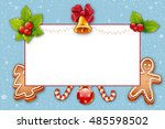 christmas card. winter postcard.... | Shutterstock . vector #485598502