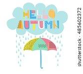 hello autumn | Shutterstock .eps vector #485602372