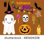 vector seamless pattern... | Shutterstock .eps vector #485604208