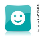 smiley icon. internet button on ... | Shutterstock . vector #485604856