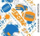 american football equipment ... | Shutterstock .eps vector #485609536