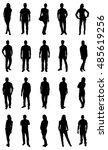 set of trendy people... | Shutterstock .eps vector #485619256