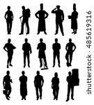 vector set of different... | Shutterstock .eps vector #485619316