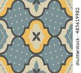 seamless retro ornamental...   Shutterstock .eps vector #485619982