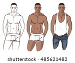 handsome african american male...