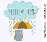 hello autumn. autumn vector... | Shutterstock .eps vector #485635162
