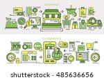 flat vector banners. shopping.... | Shutterstock .eps vector #485636656