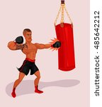 vector illustration of a boxer | Shutterstock .eps vector #485642212