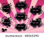 set of abstract banners with... | Shutterstock .eps vector #48565390