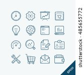 outline icons set  vector eps...
