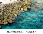 rocky jamaican shoreline | Shutterstock . vector #485657