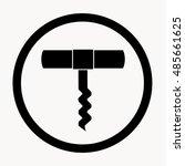 corkscrew icon. black and white ...