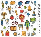 school and education vector... | Shutterstock .eps vector #485663662