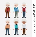 old man cartoon icon.... | Shutterstock .eps vector #485671255