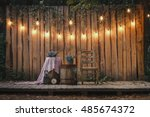 Evening Wooden Stage In The...