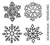 snowflake set. | Shutterstock .eps vector #485681482