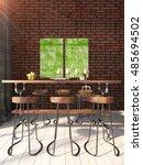 modern bright interior . 3d... | Shutterstock . vector #485694502
