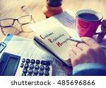 business customer relationship... | Shutterstock . vector #485696866