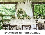 wedding decor  table setting ... | Shutterstock . vector #485703832