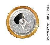 opened beer can  top view | Shutterstock . vector #485704462