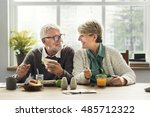retirement senior couple... | Shutterstock . vector #485712322