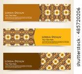 multicolored set of horizontal...   Shutterstock .eps vector #485720206