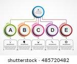 infographic design organization ... | Shutterstock .eps vector #485720482