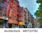 new york  united states   feb 6 ... | Shutterstock . vector #485723782