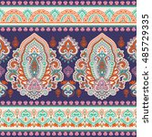 indian floral paisley medallion ... | Shutterstock .eps vector #485729335