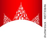 christmas tree  holiday card | Shutterstock .eps vector #485733646