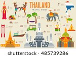 country thailand travel... | Shutterstock .eps vector #485739286