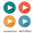play button pastel icon  flat...