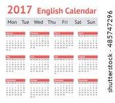 2017 european english calendar. ... | Shutterstock .eps vector #485747296