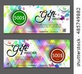 gift voucher. vector ...   Shutterstock .eps vector #485749882