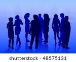 drawing crowds on holiday.... | Shutterstock . vector #48575131
