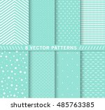 Stock vector design chic different vector patterns pink color texture can be used for printing onto fabric 485763385