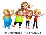 3d rendered illustration of kid ... | Shutterstock . vector #485768275