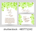 romantic invitation. wedding ...   Shutterstock . vector #485771242